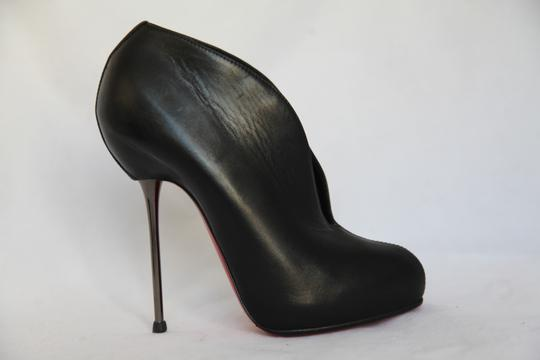 Christian Louboutin High Heels Ankle Spikes Toe Pump Black Boots Image 2