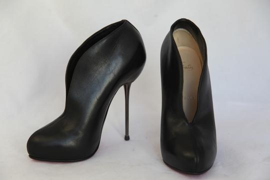 Christian Louboutin High Heels Ankle Spikes Toe Pump Black Boots Image 3