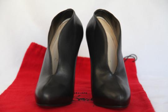 Christian Louboutin High Heels Ankle Spikes Toe Pump Black Boots Image 5