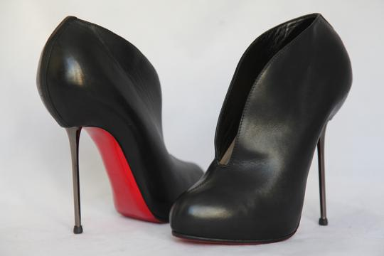 Christian Louboutin High Heels Ankle Spikes Toe Pump Black Boots Image 6