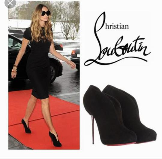 Christian Louboutin High Heels Ankle Spikes Toe Pump Black Boots Image 11