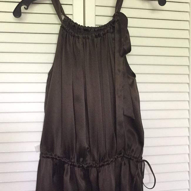 BCBGMAXAZRIA short dress brown Silk Drawstring on Tradesy Image 2