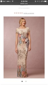 BHLDN Beige Soft Melinda Formal Bridesmaid/Mob Dress Size 8 (M)