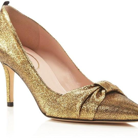 SJP by Sarah Jessica Parker Gold Pumps Image 4