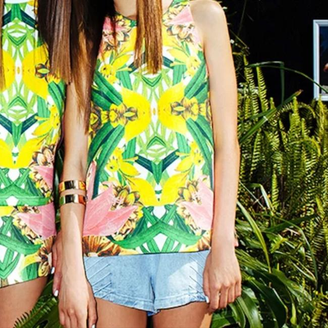 Finders Keepers Steal The Light Boho Festival Chic Australia Colorful Summer Spring Keyhole Back Classy Top Pink Image 2