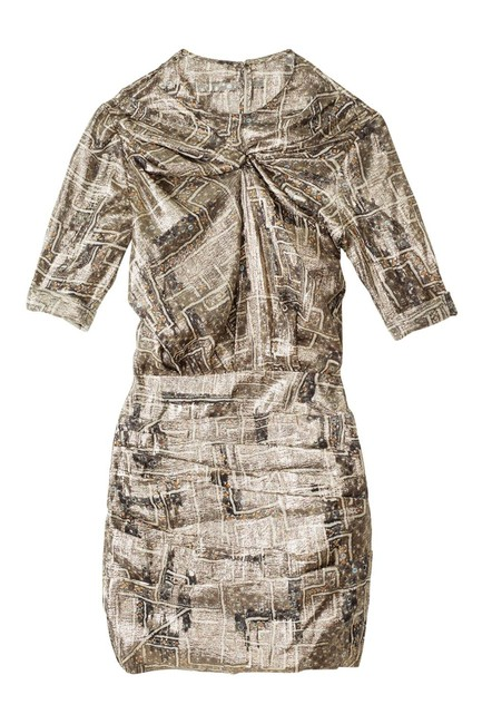 Item - Gold Metallic For H&m Short Night Out Dress Size 4 (S)