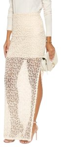 Alice + Olivia Maxi Skirt light cream