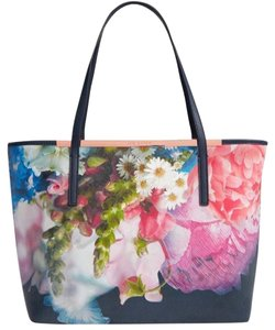 Ted Baker Light Weight 5054786287549 Nwt Floral Tote in Dark Blue