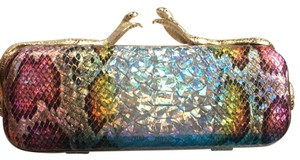 Unknown multicolor:gold,silver,yellow,black light pink, purple Clutch