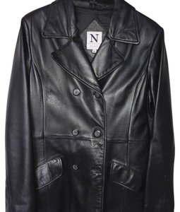 Debenhams Nuage black Leather Jacket