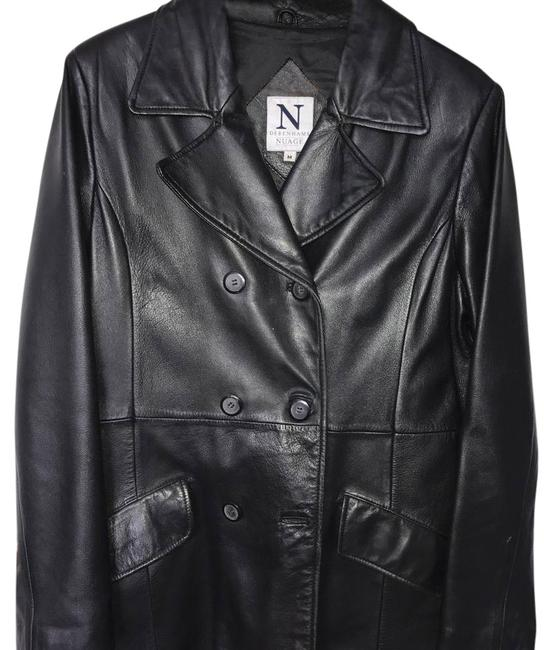 Debenhams Nuage black Leather Jacket Image 0