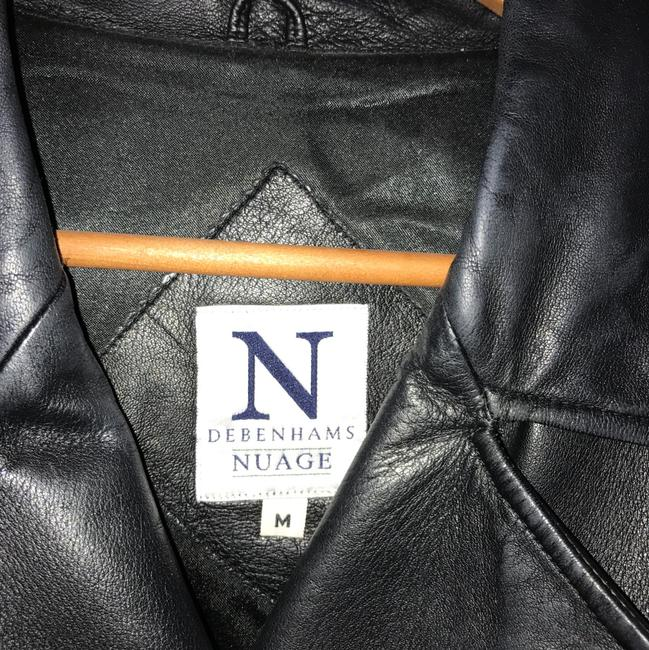 Debenhams Nuage black Leather Jacket Image 1