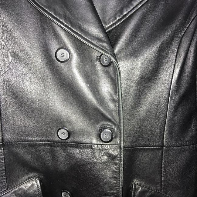 Debenhams Nuage black Leather Jacket Image 2
