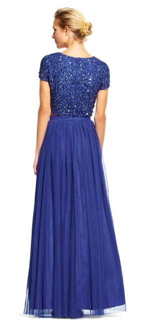 Adrianna Papell Sequin Beaded Tulle Dress Image 1