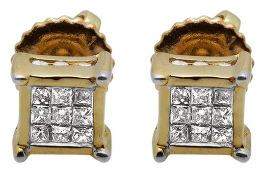 Preload https://img-static.tradesy.com/item/21462450/14k-yellow-gold-invisible-princess-square-frame-diamond-stud-25ct-5mm-earrings-0-1-540-540.jpg