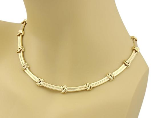 Tiffany & Co. Love Knot Grooved Link 18k Yellow Gold Choker Necklace Image 1