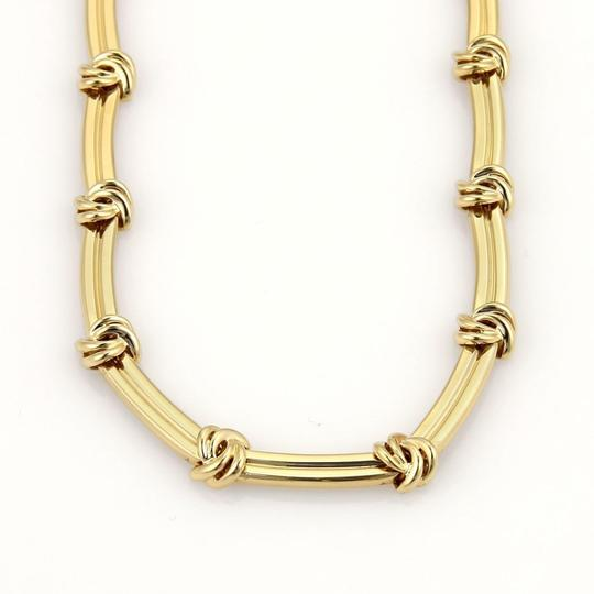 Tiffany & Co. Love Knot Grooved Link 18k Yellow Gold Choker Necklace Image 2