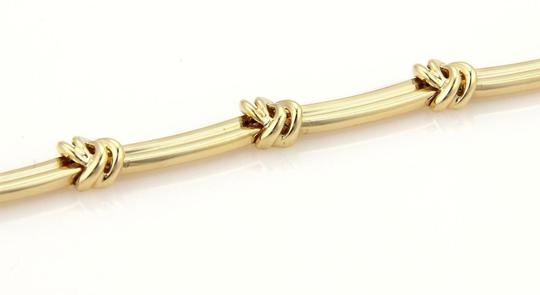 Tiffany & Co. Love Knot Grooved Link 18k Yellow Gold Choker Necklace Image 3