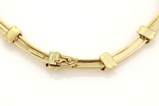 Tiffany & Co. Love Knot Grooved Link 18k Yellow Gold Choker Necklace Image 4