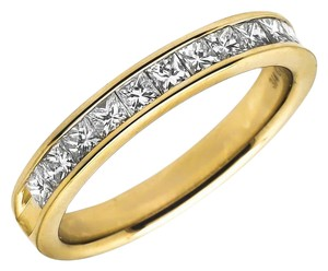 Jewelry Unlimited Invisible Princess Real Diamond Engagement Ring Band 0.75ct 4MM