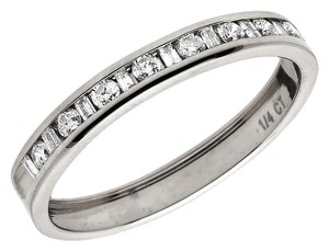 Jewelry Unlimited One Row Baguette Genuine Diamond Wedding Ring Band 0.25 ct 3mm