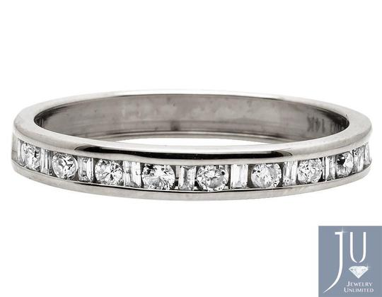 Jewelry Unlimited One Row Baguette Genuine Diamond Wedding Ring Band 0.25 ct 3mm Image 2