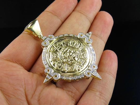 Jewelry Unlimited Unisex Mayan God Genuine Diamond Pendant Charm 0.75Ct 2.4 Inches Image 2