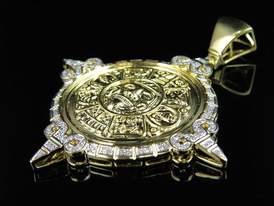 Jewelry Unlimited Unisex Mayan God Genuine Diamond Pendant Charm 0.75Ct 2.4 Inches Image 3