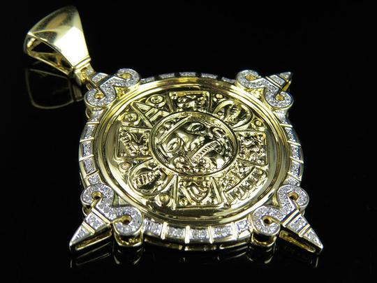 Jewelry Unlimited Unisex Mayan God Genuine Diamond Pendant Charm 0.75Ct 2.4 Inches Image 4