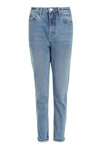 Topshop Relaxed Fit Jeans-Medium Wash