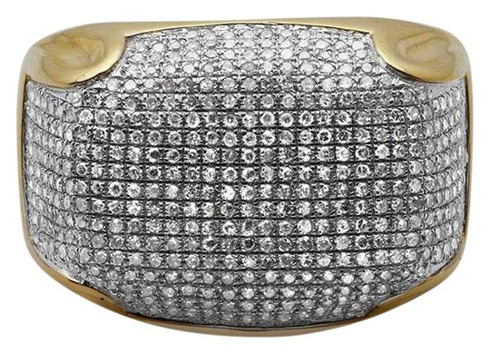 Preload https://img-static.tradesy.com/item/21462605/10k-yellow-gold-mens-pave-iced-out-genuine-diamond-dome-puff-pinky-13ct-ring-0-2-540-540.jpg