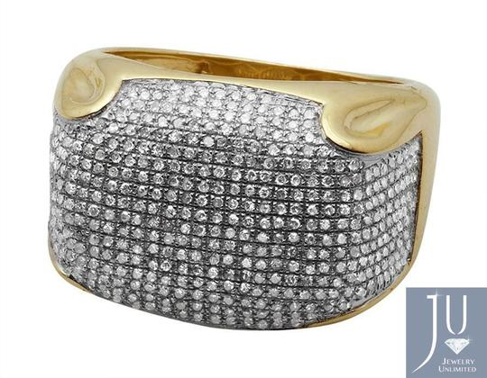 Jewelry Unlimited Mens Pave Iced Out Genuine Diamond Dome Puff Pinky Ring 1.3ct Image 1