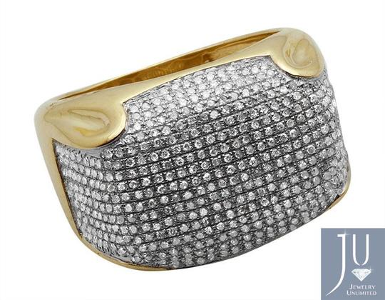 Jewelry Unlimited Mens Pave Iced Out Genuine Diamond Dome Puff Pinky Ring 1.3ct Image 2