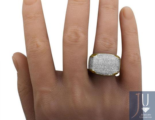 Jewelry Unlimited Mens Pave Iced Out Genuine Diamond Dome Puff Pinky Ring 1.3ct Image 4