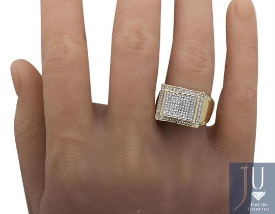 Jewelry Unlimited Men's Rectangle Frame Diamond Statement Engagement Ring 0.75ct Image 2