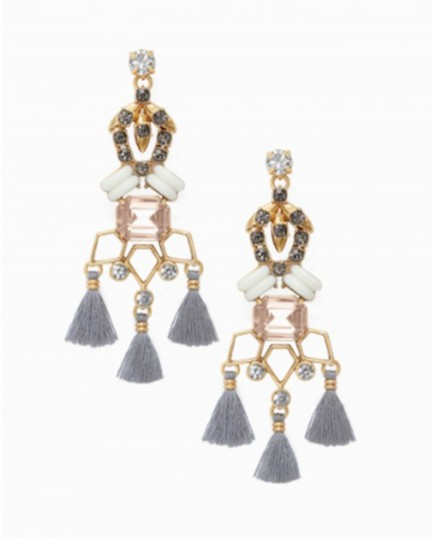 Stella & Dot STELLA & DOT Vintage Gold Geometric NILA Chandeliers Drop Earrings Image 1