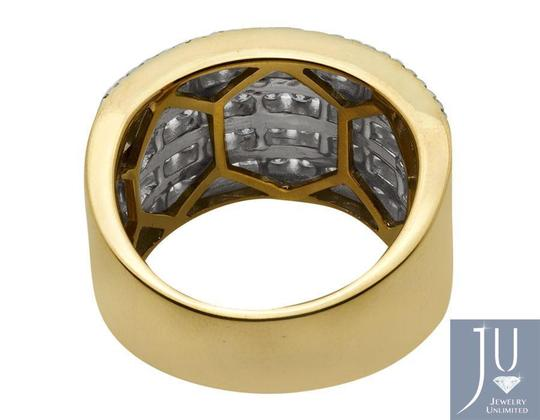 Jewelry Unlimited XL 14K Yellow Gold Multi Rows Genuine Diamond Engagement Ring 1.0ct Image 2