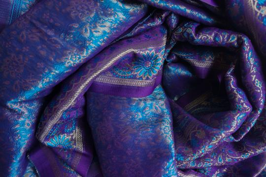 made in India Scarf 100% Silk. Image 1