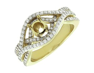 Jewelry Unlimited Ladies Chevron Style Flower Genuine Diamond Fancy Ring 0.35ct