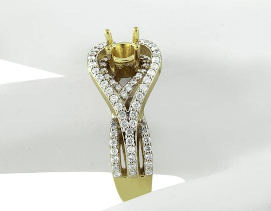 Jewelry Unlimited Ladies Chevron Style Flower Genuine Diamond Fancy Ring 0.35ct Image 2