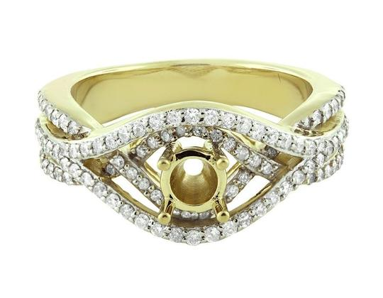 Jewelry Unlimited Ladies Chevron Style Flower Genuine Diamond Fancy Ring 0.35ct Image 3