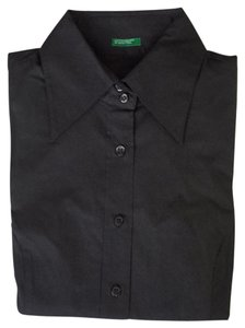 United Color Of Benetton Button Down Shirt charcoal