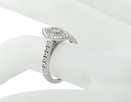 Jewelry Unlimited White Gold Finish Over Sterling Silver Marquise Diamond Ring .15ct Image 2