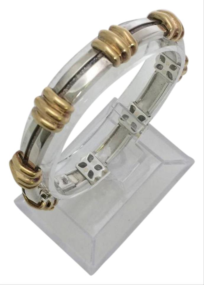 ea6705d59 Tiffany & Co. 18K Yellow Gold and Sterling Silver Atlas Bracelet Image 0 ...