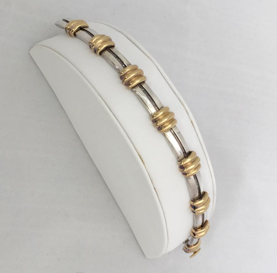 2b08ab79b Tiffany & Co. 18K Yellow Gold and Sterling Silver Atlas Bracelet Image 11.  123456789101112