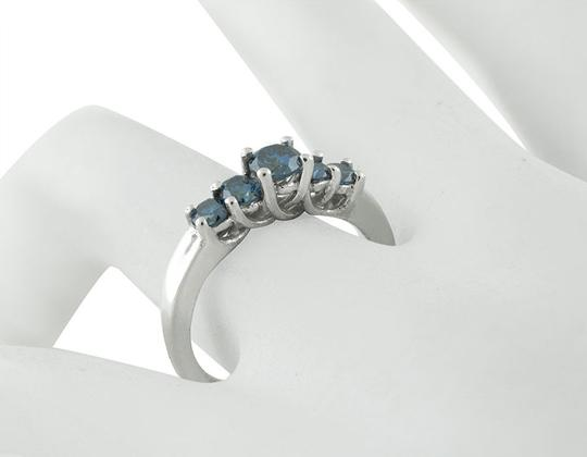 Jewelry Unlimited Treated 5 Blue Stone Genuine Diamond Engagement Ring 0.75Ct Image 2