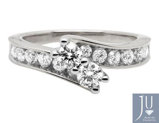 Jewelry Unlimited Forever Us 2 Stone Channel Diamonds Engagement Ring 1.02ct Image 3