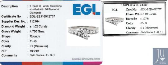 Jewelry Unlimited Forever Us 2 Stone Channel Diamonds Engagement Ring 1.02ct Image 4