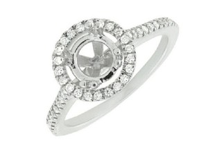Jewelry Unlimited Halo Semi Mount Solitaire Diamond Engagement Bridal Ring 0.52ct