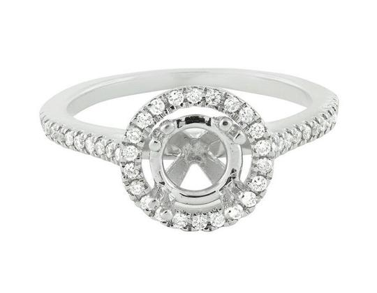 Jewelry Unlimited Halo Semi Mount Solitaire Diamond Engagement Bridal Ring 0.52ct Image 1